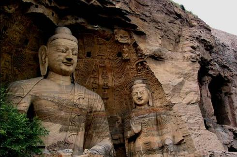 the Yungang Grottoes in China