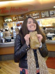 One of my post-college roomies and I took a day trip to Vancouver, BC, for Blenz coffee and Tim Horton's doughnuts in January 2009.