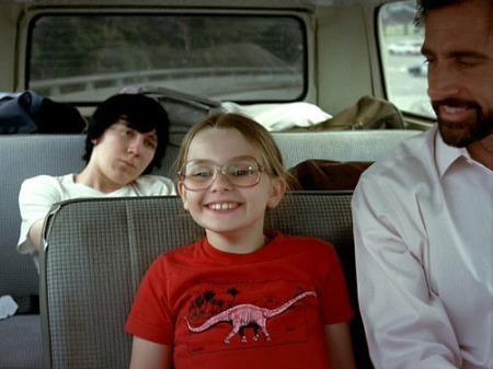 Paul Dano, Abigail Breslin, and Steve Carrell in Little Miss Sunshine.