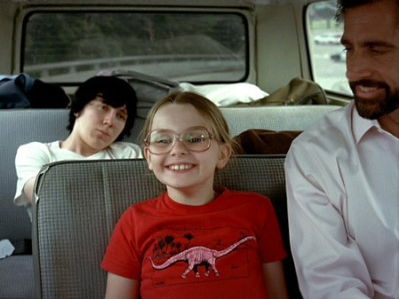 Paul Dano, Abigail Breslin, and Steve Carrell in Little Miss Sunshine.